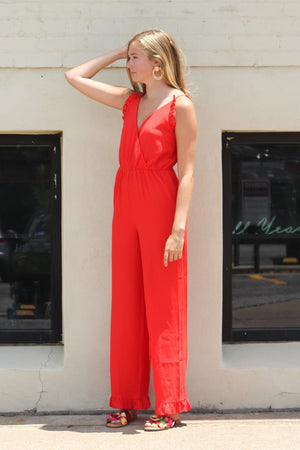 Grand Finale Ruffle Jumpsuit