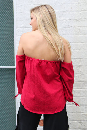 Heart On Your Sleeve Strapless Top