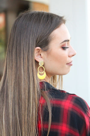 Around We Go Gold Earring