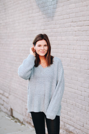 Mink Pink Candid V Neck Jumper Sweater