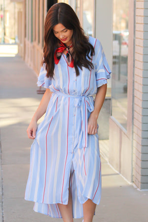 Darling Flowy Sleeve Midi Dress - Savoir-Faire | Women's Clothing Boutique