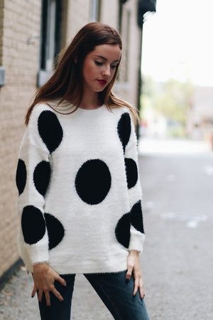 Dot You Dare Knit Sweater