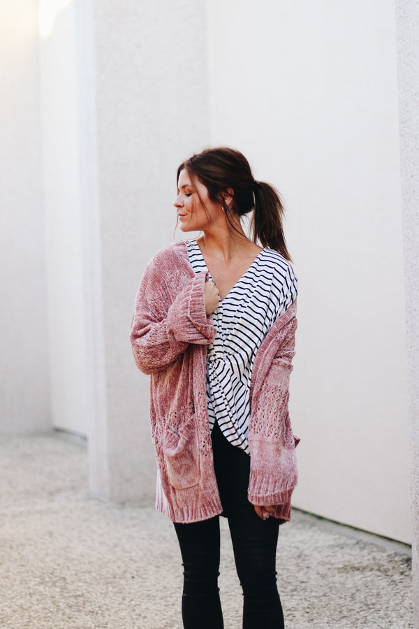 Mink Pink Chenille Cardigan