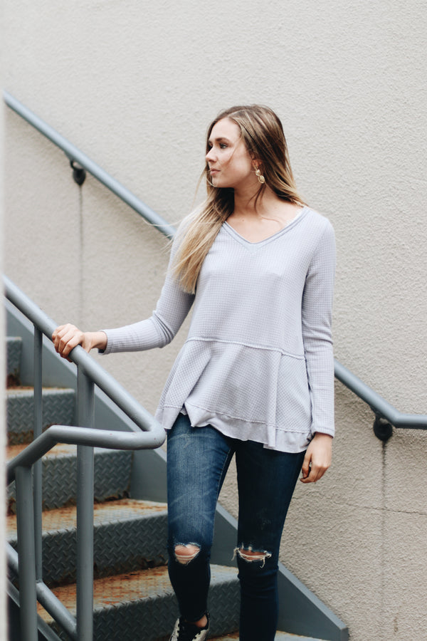 One At A Time Waffle Knit Top