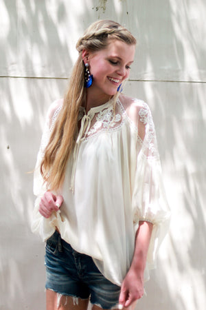 Special Delivery Floral Lace Tunic Top
