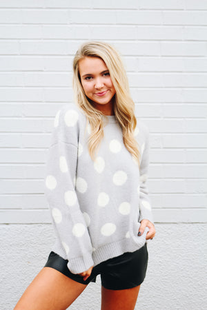 On The Spot Polka Dot Sweater