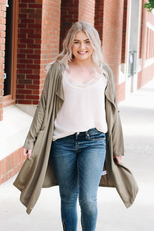 Anything's Possible Lightweight Duster Coat