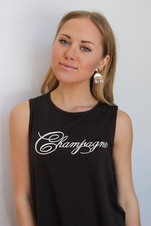 Chaser Brand Champagne Union Tank - Savoir-Faire | Women's Clothing Boutique