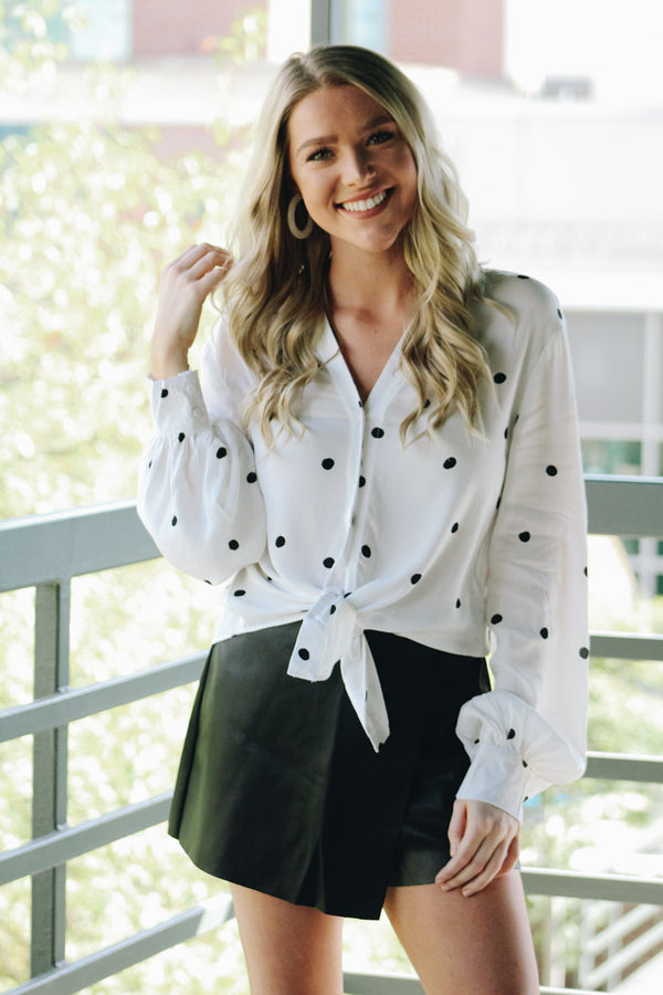 Just As She Is Polka Dot Blouse