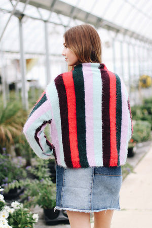 Blank NYC The Mad Hatter Striped Sweater