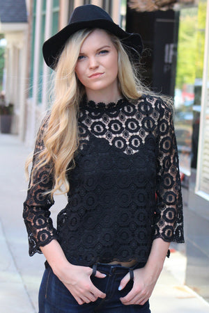Darkest Hour Lace Top - Savoir-Faire | Women's Clothing Boutique