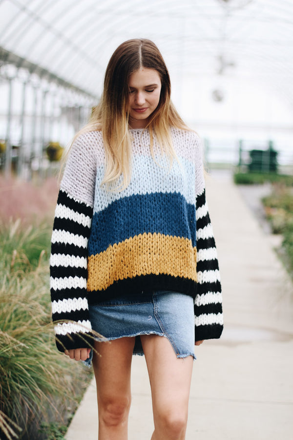 Blank NYC Mixed Signals Striped Sweater