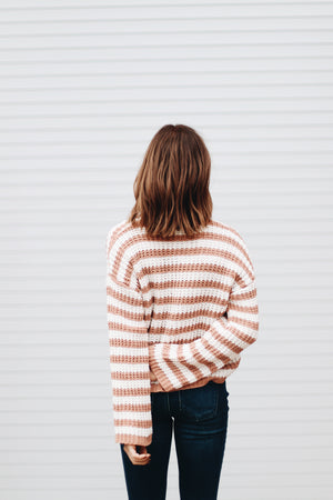 Total Package Striped Knit Sweater