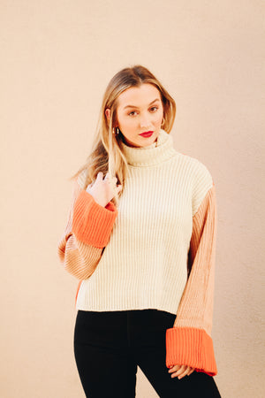 MinkPink Block Colour Knit Sweater