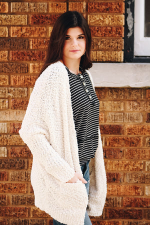 Out The Door Textured Dolman Cardigan