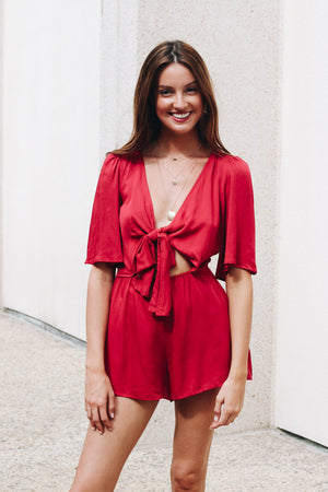 Play The Game Bow Front Romper