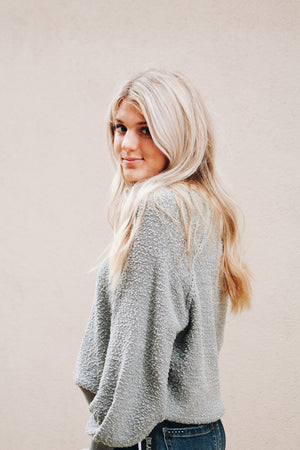 Call It What You Want Dolman Bubble Sleeve Pullover