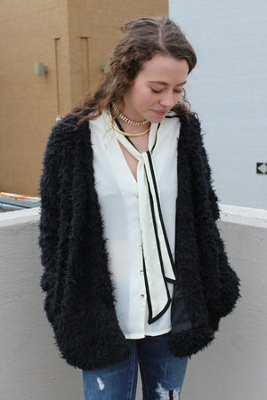 City Slicker Faux Fur Coat