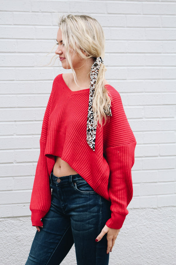 About Time Cropped Knit Sweater