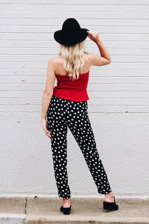 Feelin It Polka Dot Pants