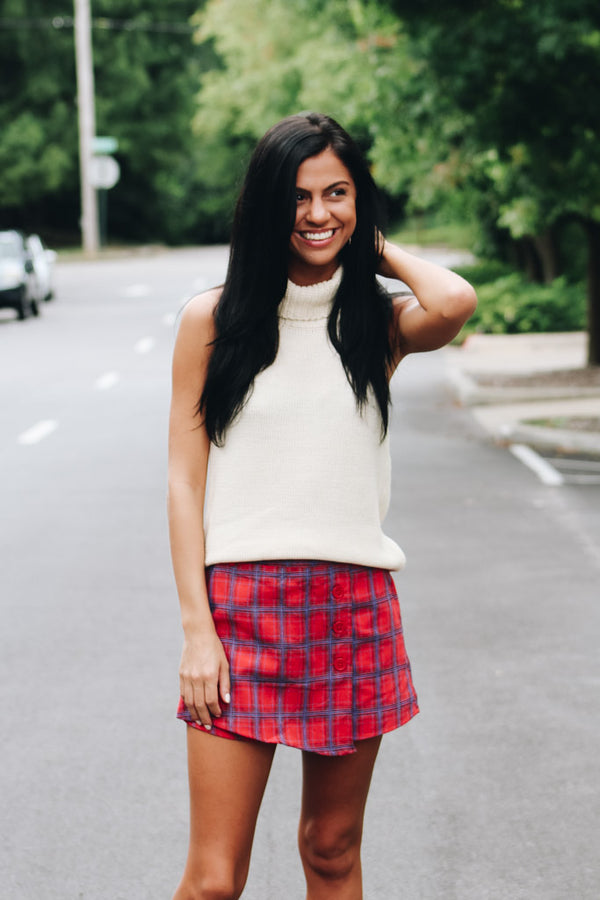 All Together Now Plaid Skirt