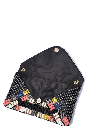 Beaded Sequin Envelope Clutch