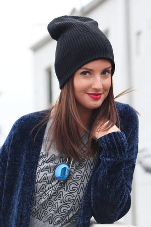 Distressed Knit Beanie - Savoir-Faire | Women's Clothing Boutique