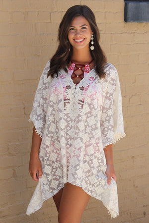 More Power to You Lace Cover Up - Savoir-Faire | Women's Clothing Boutique