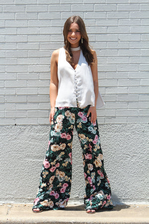 Call on Me Floral Palazzo Pant