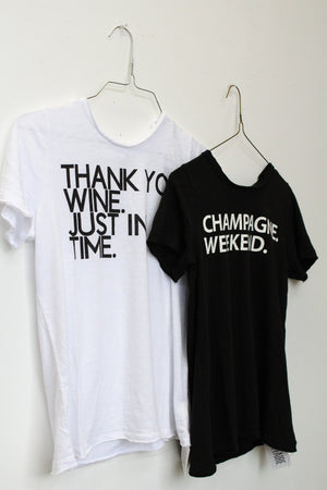 Chaser Brand Wine Just in Time Tee - Savoir-Faire | Women's Clothing Boutique
