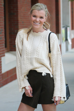 Going West Fringe Sweater