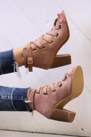 All the Way Laced Up Heel