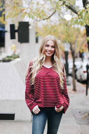 Can't Go Wrong Oversized Striped Top