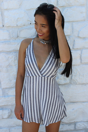 Candy Stripe Summer Romper - Savoir-Faire | Women's Clothing Boutique