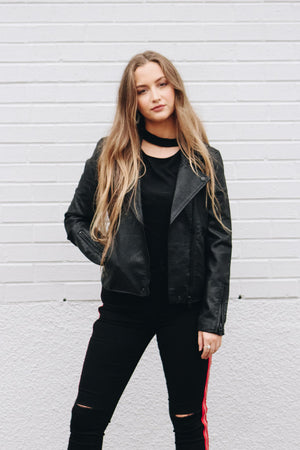 Blank NYC Onyx Leather Jacket