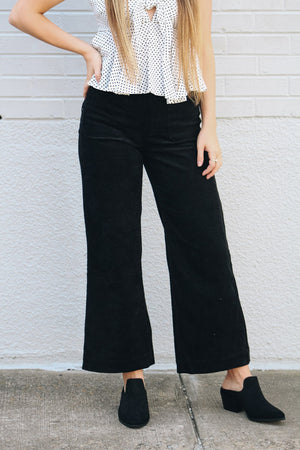 Just How I Like It Curdoroy Cropped Flare Pants