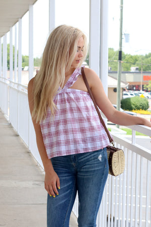 Keep You In Check Ruffle Tank