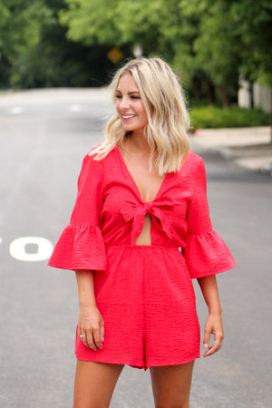 By Your Side Bell Sleeve Romper