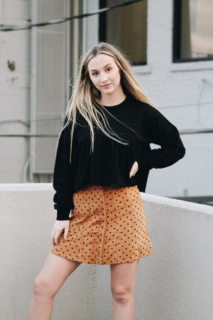 All The Dots Curduroy Skirt