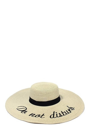 Do Not Disturb Sun Hat - Savoir-Faire | Women's Clothing Boutique