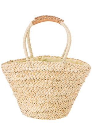 Daisy Woven Top Handle Basket - Savoir-Faire | Women's Clothing Boutique