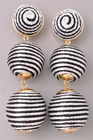 Black & White Tiered Earring