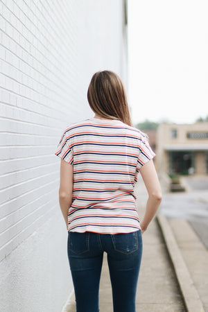 On The Brightside Multi Striped Tee