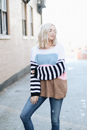 Pros and Cons Colorblock Sweater