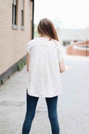 One Wish Knit Button Top
