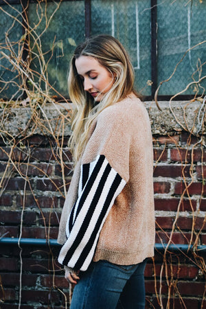 Totally Killed It Striped Sleeve Sweater