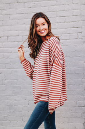 Tell Me Something Good Striped Knit Pullover