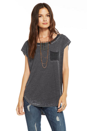 Chaser Blocked Jersey Cap Sleeve - Savoir-Faire | Women's Clothing Boutique