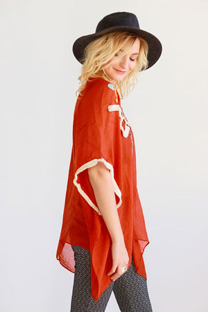 Boho Babe Embriodered Cover-Up - Savoir-Faire | Women's Clothing Boutique