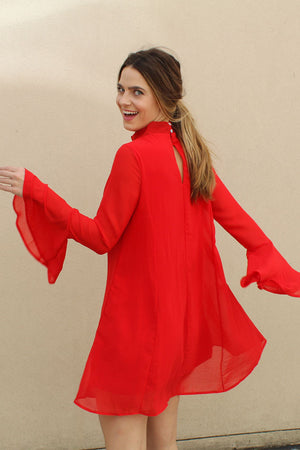 All Is Well Long Sleeve Dress - Savoir-Faire | Women's Clothing Boutique